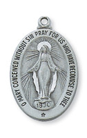 (D461MI-24) PEWTER MIRACULOUS MEDAL