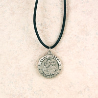 (D575JSLC) PEWTER ST JOSEPH MEDAL WITH