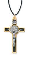 """(119-06) 3"""" GOLD ST. BENEDICT CRUCIFIX"""