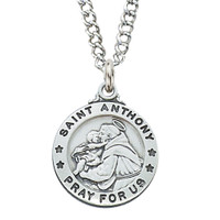 (D600AN) PEWTER ST ANTHONY MEDAL