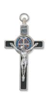 """(119-07) 3"""" SILVER ST BENEDICT CRUCIFIX"""