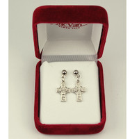 (ERC8023) RF CELTIC CROSS EARRINGS T BOX