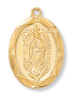 (J2503GU) G/SS GUADALUPE MEDAL 24 CH&""