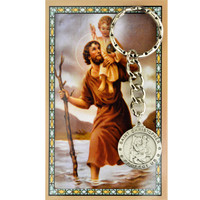 (KRD575CHC) ST CHRIS KEYRING/PRAYER CARD