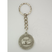 (KRD716FT) PEWTER FOOTBALL SPORT KEYRING