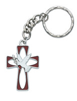(KRRC9152C) RHODIUM ENAMELED HOLY SPIRIT