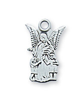 (L465B) STERLING SIL. GUARDIAN ANGEL