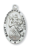 (L500CH) SS ST CHRISTOPHER CH & BX