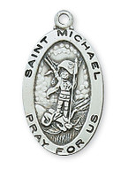 "(L500MK) SS ST MICHAEL 18CH&BX"""