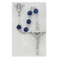 (381R) 7MM SAPPHIRE ROSARY