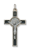 "(47-04) 2"" BLACK ST BENEDICT CRUCIFIX"