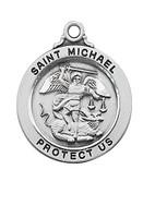 """(L636) SS ST MICHAEL 20"""" CHAIN & BOX"""