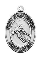 "(L675SK) SS SKIING MEDAL 24""CH&BX"