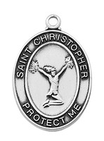 (L676CL) SS CHEERLEADING MEDAL 18""