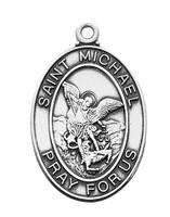 (L684MK) STERLING SIL. ST MICHAEL MEDAL