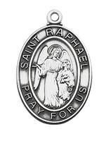 (L684RH) STERLING SIL. ST RAPHAEL MEDAL