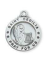 """(L700CE) SS SML ST. CECILIA  18"""" CH&BX"""
