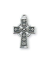 """(L8023B) STERLING CELTIC ON 13"""" CHAIN"""