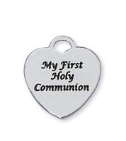 (L806) SS 1ST COMMUNION HEART PENDANT