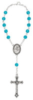 (694C) AQUA/MARCH AUTO ROSARY/CARDED