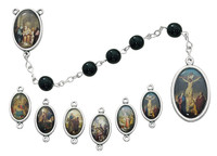 (722R) 7MM BLACK 7 SORROWS CHAPLET