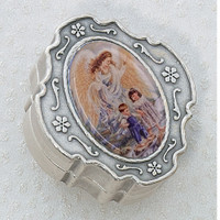 (760-100) SILVER BOX ONLY W/GUARD ANGEL