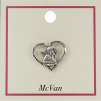 (PIN-ANG) ANGEL LAPEL PIN, CARDED