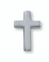 (PIN-CRS) SIL CROSS LAPEL PIN