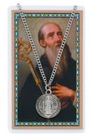 (PSD2514BN) ST. BENEDICT PRAYER CARD SET