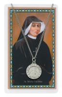 (PSD600FA) ST MARIA FAUSTINA PRAYER CARD