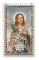 (PSD600MG) ST MARIA GORETTI PRAYER CARD S