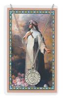 (PSD600RS) ST ROSE LIMA PRAYER CARD SET