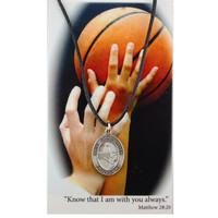 (PSD671BK) GIRLS BASKETBALL PRAY CARD SET