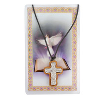 (PSD94-14) OLIVE WOOD TRINITY CROSS
