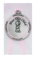 (PW12-P) GIRL CRIB MEDAL/CARDED