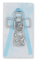 (PW5-B) GUARDIAN ANGEL CROSS/BLUE CARD