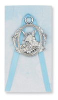 (PW6-B) GUARDIAN ANGEL CRIB MEDAL BLUE