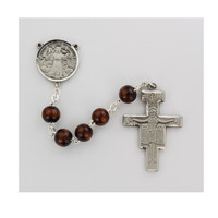 (R169LF) SS 4X6MM SAN DAMIANO ROSARY