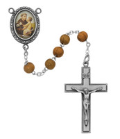 (R184DF) OLIVE WOOD ST. ANTHONY ROSARY