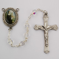 (R189DF) 6MM CRYSTAL ST. CLARE ROSARY
