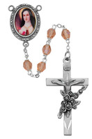 (R210DF) 6MM ROSE ST. THERESE ROSARY