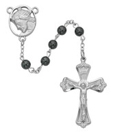 (R279RF) 6MM GENUINE HEMATITE ROSARY