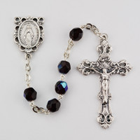 (R391-GAKF) 6MM AB GARNET/JANUARY ROSARY
