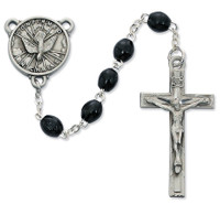 (R447DF) 4 X 6 BLACK WOOD H.S. ROSARY