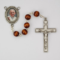 (R540DF) 7MM BROWN WOOD POPE FRANCIS