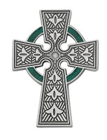 (VC-899) CELTIC VISOR CLIP WITH GREEN