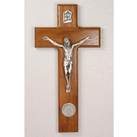 "(80-115) 8"" WALNUT AIRFORCE CRUCIFIX"