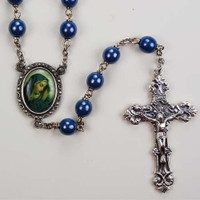 (R165DF) 7MM BLUE OL SORROWS ROSARY