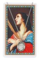(PSD683AG) ST AGATHA MEDAL & PRAYER CARD