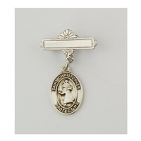 (437LT) SS ST. CHRISTOPHER BABY PIN/T